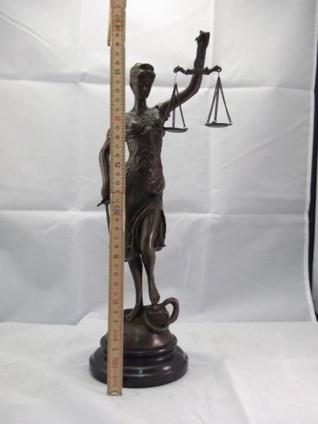 Jansen Antiek Bronzen Vrouwe Justitia Beeld Jansen Antiek